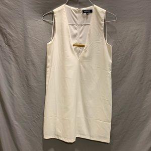 Misguided white mini dress